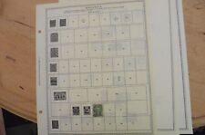 K30 Rhodesia 3 Minkus pages 1890-1963 w/ 4 stamps