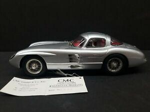 CMC Mercedes Benz 300 SLR 1955 Silver 1/18 Scale Model Car Germany