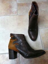 Mjus  41  beaux boots en cuir  tbe.