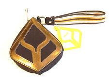 "Reef Bronze Mini-Purse Zipper Close 5"" With Strap & Mirror NWT"
