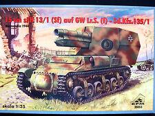 German 15 cm sfh 13/1 (sf) auf gwlr. s. (f) - SD.KFZ.135/1, rpm, échelle 1/35
