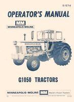 Minneapolis Moline G1050 G-1050 Operators Manual S-574