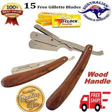 New wood razors Barber Salon Straight Cut Throat Shaving Razor Blade and blades