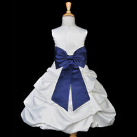 WHITE BUBBLE FLOWER GIRL DRESS WEDDING BRIDESMAID BRIDAL EASTER COMMUNION PARTY