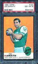1969 Topps #100 Joe Namath PSA 8 New York Jets HOF --