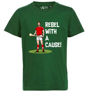 Rebel with a cause - Mens Novelty Cork Hurling T-Shirt Tee 100% cotton