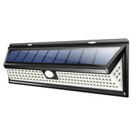 LED Solar Power PIR Motion Sensor Wall Light Outdoor Garden Lamp Waterproof #