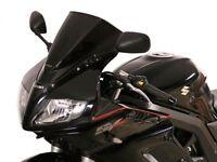 MRA Disco de Carreras Negro Suzuki Sv 650 S 1000 03- Protector Viento Cristal