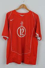 Vintage NIKE HOLLAND Fußball Home Trikot Euro 2004 Niederlande Roy Makaay XL
