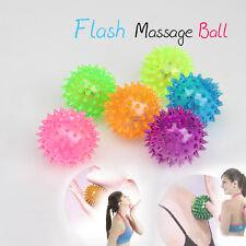 Flashing SPIKE BALL Spikey Massage Bounce Light Sound Sensory Flashing Stress