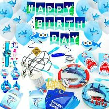Baby Shark Party Supplies Set with Shark Party Favors Balloons Decoration Plates