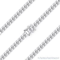 3.5mm Miami Cuban Curb Link Italy .925 Sterling Silver w/ Rhodium Chain Necklace