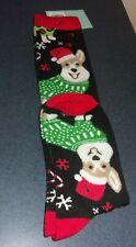 Brand New Corgi Christmas Ladies Crew Socks Size 9 to 11 For Dog Rescue Charity