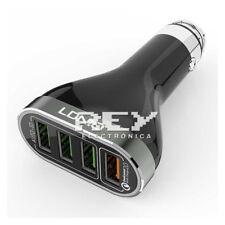 Cargador Mechero Coche  4USB Multipuerto Cable Micro USB  6.6 A.  d329/v191
