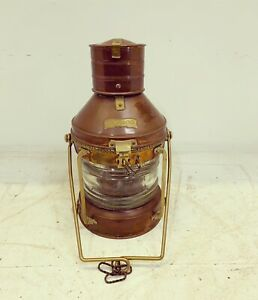 Brass And Copper Ships Anchor Light