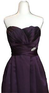 Davids Bridal F15554 Bridesmaid Dress Plum Size 10