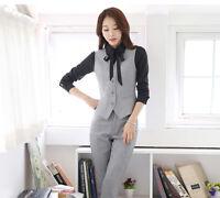 Business Vest Waistcoat suit with Pant formal office ladies elegant work wear