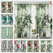 Window Curtain Bamboo Forest Leaf Curtains Drapes for Living Room Home Decor