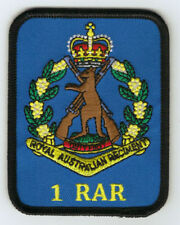 1ST BN RAR PATCH WITH SKIPPY BADGE  HEAT ADHESIVE BACKING 70 X 90MM INFANTRY