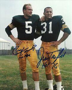 PAUL HORNUNG / JIM TAYLOR Signed Autographed 8 x 10 Photo ( PACKERS HOF )REPRINT