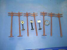 Used Lot O Guage Telephone Poles Accessories.