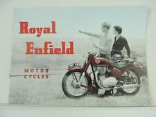 1956 Royal Enfield Dealer Brochure 150 Ensign 250 Clipper 350 Bullet Twin L2080