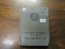 REGIA AERONAUTICA, ISTRUZIONI MOTORE ALFA ROMEO 125 R. C. 35  (32)