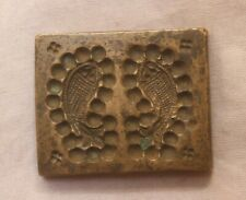 Dye Mould Seal Stamp With Print Of Ancient Fishes On Brass Dye Seal BR 129