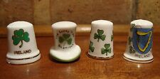 4 IRELAND PORCELAIN THIMBLES - SHAMROCKS - BREENSCH COLLECTIBLES THIMBLE