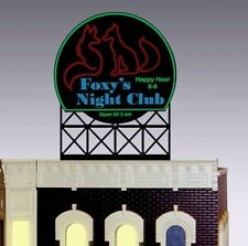 FOXY NIGHT CLUB ANIMATED NEON SIGN FOR O SCALE-LIGHTS, FLASHES & MORE