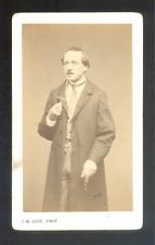 CDV Legé succésseur de Carjat à Paris, à identifier,Vintage albumen print c.1872