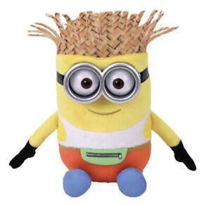Ty Despicable Me 3 DAVE Minion Hawaiian Beanie Baby Plush Stuffed Animal 7'' New