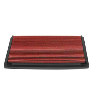 For 1988-1998 Audi A6 S4 VW Golf Jetta Durable Drop-In Dry Panel Air Filter Red