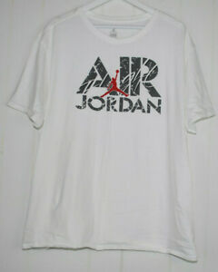 Air Jordan Flight Graphic Tee Mens 3XL Short Sleeve T-Shirt White Gray Red XXXL