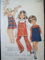 Vintage Butterick Pattern 5434 Girl's Jumper, Dress or Pants circa 1960s Size 2