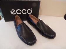 NEW ECCO Passo Moccasin Men's Support & Comfort Black Leather 41 EU /7-7.5 US