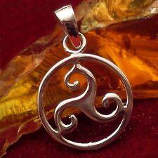 TRISKEL 11 Amulett Silber Celtic Kelten Larp Wicca Gothic