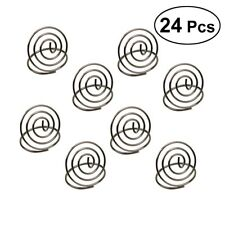 24pcs Wedding Party Place Card Photo Holder Stands Table Number Paper Menu Clips