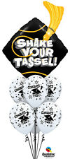 GRADUATION PARTY SUPPLIES SHAKE YOUR TASSEL QUALATEX 7 BALLOON BOUQUET