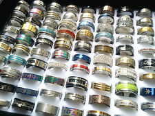Wholesale 50pcs mix lot stainless steel rings fashion jewelry Wedding Ring Gift