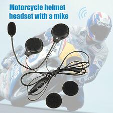 3.5mm Motorcycle Bike Microphone Stereo Speaker Helmet Radio Headphone Earphone
