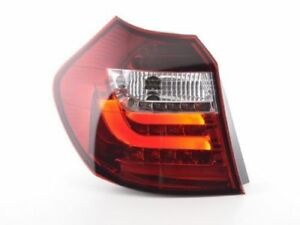 RED clear finish LED lightbar tail rear lights FOR BMW E87 E81 3/5 door 04-06