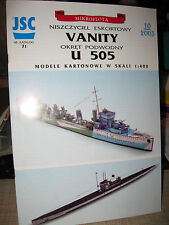 MIKROFLOTA, VANITY AND U-505 SUBMARINE PAPER SHIP KIT