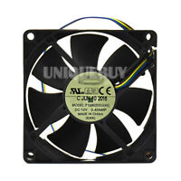 For EVERFLOW F128025SU(48) 80*80*25mm 12V 0.40A 4pin PWM cooling fan