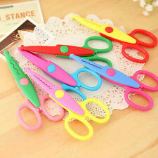 6×Different Edge Scissors Paper Cutter DIY Plastic & Metal Blade Child Kid UKYQL