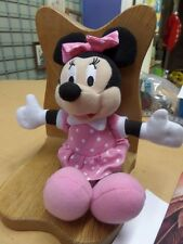 """New listing Minnie Mouse Plush stuff doll 8"""" with Pink dress and hair bow Guc"""