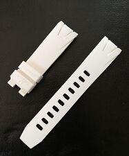 Omega Seamaster Planet Ocean 45.5mm White Rubber Original Strap Cinturino Gomma