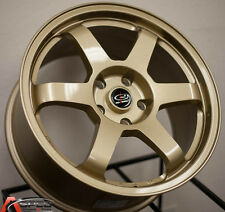 17X8 +44 ROTA GRID GOLD 5X100 RIMS FIT SUBARU FORESTER LEGACY IMPREZA WRX MATRIX