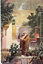 16837 AK Kitsch Carl Spitzweg Der Kaktusfreund Mann Morgenrock Pfeife um 1917