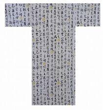 "DM-S00927-03-WH YUKATA with Obi S-M-L-LL(56""-58""-60""-62"") JAPAN KIMONO MEN's"